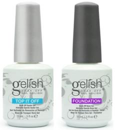 Top Quality Soak Off Unhas de Gel Polonês Para Nail Art Gel Laca Levou / uv Harmony Gelish Base Coat Fundação Top coat