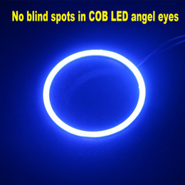 2X ESCONDEU COB LED Azul para os Olhos de Anjo de Halo Anel Farol Nevoeiro Lâmpada Habitação 12 v-24 v Para Diurna Luz de Condução DRL Lâmpadas venda por atacado