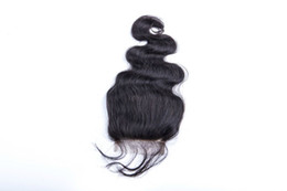 China Wholesale Free Shipping Top Grade Malysian Human Hair Body Wave Middle Part Lace Closure 4*4 inch Swiss Lace Top Hair Piece supplier body wave closure free shipping suppliers