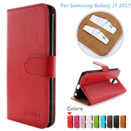 cell phone covers for samsung Canada - For Samsung Galaxy J7 2017 Wallet PU Flip Leather Case Credit Card Back Cover For LG K4 2017 LV1 Cell Phone Mobile Phone