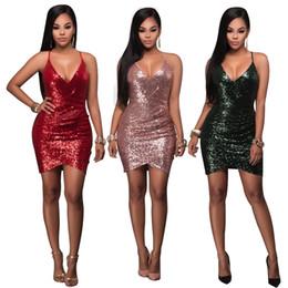 3235ed8777 Winter night suits online shopping - 2017 EUR Fashion Sexy Club V neck  Dress skirt dress