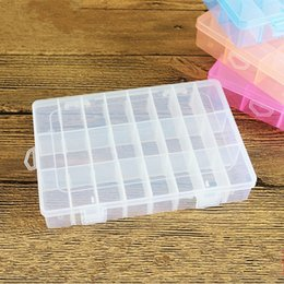 Small rubber fiSh online shopping - Storage Boxes Detachable Regroup Case Small Lattices Box Rubber String Jewellery Fish Bait Ear Studs Plastic Storages Cases sk D R