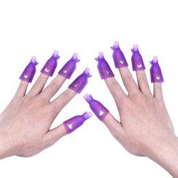 Discount purple gel nail polish - 10PCS Nail Art Acrylic Soak Off Wrap Gel Polish Remover UV Cleaner Clip Cap Pack Clip Remover Tool