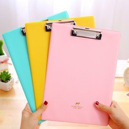 A4 Document Wallet NZ - Writing Board Plywood Clip File Folder Clip Supplies Originality Macaroon Color Pinkycolor A4 Straight Splint Hot Sell 3 4ff J R