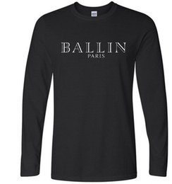 Top T-shirts Pas Cher-2017 Fashion Ballin Amsterdam T-shirts Hommes à manches longues coton noir Casual O-Neck Funny Graphic Tshirts Mode Casual Tee Top
