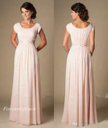 $enCountryForm.capitalKeyWord Canada - Country Style Blushing Pink Long Bridesmaid Dress Chiffon Beach South African Maid of Honor Dress Wedding Guest Gown Custom Made Plus Size