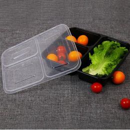 $enCountryForm.capitalKeyWord NZ - Black Transparent Disposable Lunch Boxes Food Container Snack Packing Boxes Microwaveable PP Lunch Bento Box Free Shipping ZA2527