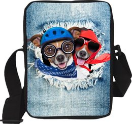 Chinese  Wholesale- Children Crossbody Bags Cute Animal Dog Printed Women Girls Messenger Bags Ladies Sling Casual Bag Bolsos Mujer Kids Handbag manufacturers