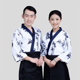 $enCountryForm.capitalKeyWord Canada - Fashion bamboo women sushi chef uniform fans men restaurant waitress uniforms Korea japanese chef coffee hotel food service cook suit japan