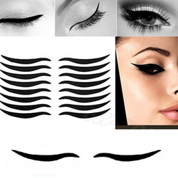 Discount sexy hot makeup - Wholesale-Hot item! 80Pairs Sexy Stunning Eyeliner Eyeshadow Stickers Women Girl Eye Makeup Cosmetic