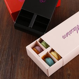 Wholesale Colorful Macaron Box Holds Cavity cm Food Packaging Gifts Paper Party Boxes For Bakery Cupcake Snack Candy Biscuit Muffin Box