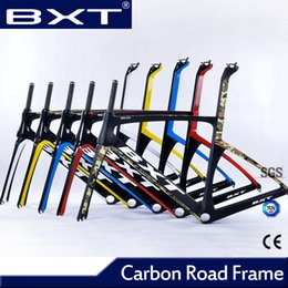 Cheap Framed Bikes Canada - 2018 new Di2 and mechanical carbon road bike Frame with fork headset Chinese cheap cyclocross racing used Bicycle Frame