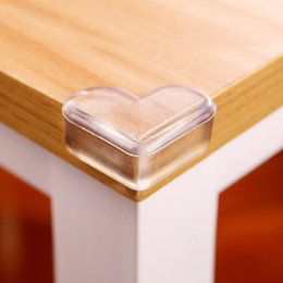 Protector De Borde De Seguridad Baratos-Baby Safety Kids Care LOVE Shaped Corner Guards Protector Guards Cover Table Cojín anticolisión Edge con adhesivo IB289