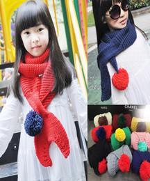 Discount little girls scarfs - Children Scarf Little Mermaid Tail Wool Baby Knitting Scarves Child Neckerchief Crochet Scarf Warm Christmas Gift