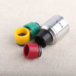 wide bore drip tip delrin NZ - Delrin+SS drip tips for TFV8 tank wide bore TFV8 drip tip mix color ship by random