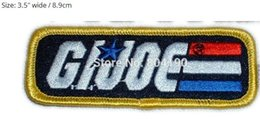 "Embroidered Name Patches Australia - 3.5"" G.I. GI JOE Name LOGO Iron On Patch Movie TV Series Costume Sew On Embroidered Badge Applique Fashion Clothing"