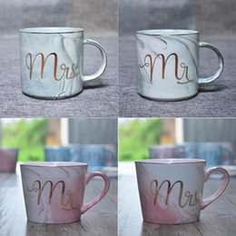 $enCountryForm.capitalKeyWord Canada - Marble Ceramic Porcelain Coffee Mug - Mr and Mrs Printed Gold Plating Tea Milk Coffee Mugs Cup - Creative Wedding Gift