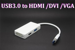 $enCountryForm.capitalKeyWord Australia - 20pcs USB 3.0 to HDMI+DVI+VGA Adapter (3 in 1) connect display devices CRT LCD monitor projector to desktop or notebook PC new