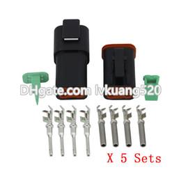 Deutsch electrical connectors online shopping - Black Sets Pin DT04 P DT06 S Automobile waterproof wire electrical Deutsch Connector plug