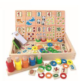 Blocks For Girls Australia - Montessori Wooden Blocks Toys Digital Learning Box Calculatio Children'S Educational Toy For Boy And Girl Gift