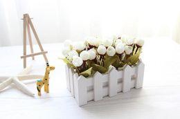 $enCountryForm.capitalKeyWord UK - Hot Sale Rosebud Bud 16cm White Artificial Flower Simulation Flower Mini Bonsai Wedding Decoration Artificial Flower