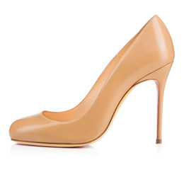 Cute Wedding Shoes NZ - Zandina Ladies Womens Handmade Fashion FeiFei 100mm Cute Basic High Heels Party Office Pumps Shoes Nude Z70533