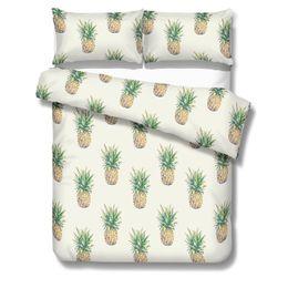 $enCountryForm.capitalKeyWord UK - White Pineapple Blue Ship Reactive Printing Bedding Sets Twin Full Queen King Size Bedroom Decoration Duvet Cover Pillow Shams 400TC 3PCS