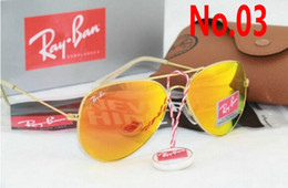 SunglaSSeS aviator mirror pink online shopping - New Ray Aviator Vintage Sunglasses Pilot Men Women mm mm Bans UV400 Polarized Band Mirror Glass BEN Sun Glasses with case