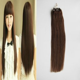 $enCountryForm.capitalKeyWord NZ - #6 Medium Brown Straight Loop Micro Ring Hair 1g strand 50s pack 50g Apply Natural Hair Micro Link Hair Extensions Human 4b 4c