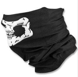 White neck scarf online shopping - Party Halloween Scary half face Mask Festival Skull Masks Skeleton Motorcycle Bicycle Multi Masks Scarf Half Face Ski Bi Mask Cap Neck Ghost