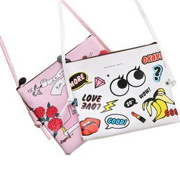 Barato Desenhos Animados Grandes Da Menina Dos Olhos-Venda Por Atacado - Mini Flap Bags PU Leather Cartoon Messenger Crossbody Bags Cute Big Eyes Shoulder Bags For Girl