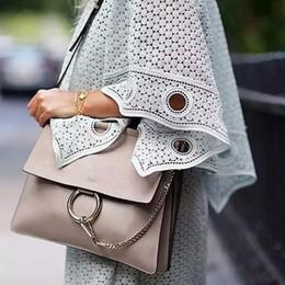 $enCountryForm.capitalKeyWord NZ - Wholesale- 2016 Famous enuine Leather Woman Bag Handbags Circle Ring Suede Messenger Bags Envelope Patchwork Clutch Bag