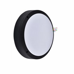 Balcony lamps online shopping - 18w w w led outdoor wall lamps waterproof round Garden lamp aisle balcony lamp ac v UL FCC