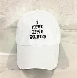 Men Best Hats Canada - I Feel Like Pablo Hat Adjustable Hip Hop Baseball Cap Yeezus Black Snapback Caps Hats for men and women dad hat drake cap Best