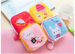 cute cloth purses Australia - 2017 New Hot Sale Cute cartoon cloth napkin package admission package female sanitary napkins cosmetics storage capacity purse