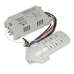 Chinese  Wireless 4 Channels ON OFF 220V Lamp Remote Control Switch Receiver Transmitter Used in Household Stairs Corridor Favorable manufacturers