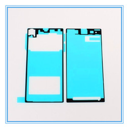 lcd sticker for sony Canada - 5 Sets=10pcs New Replacement LCD Front Frame Housing + Back Battery Door Cover Adhesive Glue Sticker For Sony Xperia Z1 L39h Free Shipping