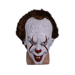 Christmas Movie Costumes UK - 2017 Christmas mask TOY Pennywise Costume It The Movie By Stephen King it Scary Clown Mask Men's Cosplay Prop free shipping 100pcs