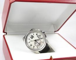 Ship Free Mens Wrist Watches Australia - Free shipping Luxury Brand New CALIBRE DE Mens Automatic Watches W7100013 Mens Sports Wrist Watches Leather Band original Box