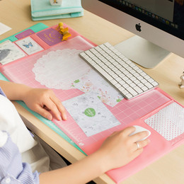Wholesale Home Office Networking Inputs Creative Computer Desk Cute Game Desktop Keyboards Mouse Pad Wrist Rests