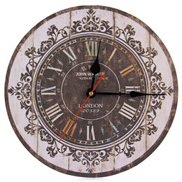Round wood wall clocks online shopping - New Arrival Designer Silent Classic Analog Multi Color Wood Round Decorative Accessories Vintage Design Wall Clock
