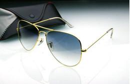 $enCountryForm.capitalKeyWord Canada - Top Fashion Brand Pilot Sunglasses Designer Sun Glasses For Men Women Gradient Alloy Metal Gold Blue Glass Lens 58mm Original Case Box