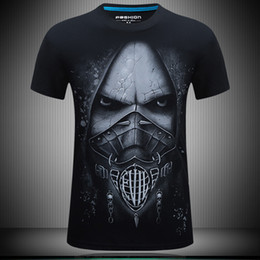 T Shirts For Men NZ - Summer mens t shirts 3d death skeleton designer t shirt print plus size fat men casual loose short-sleeved streetwear tshirts for men