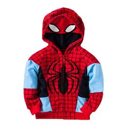 Spiderman hoodie 4t online shopping - cute kid sweatshirt coat cartoon spiderman cotton hooded coat for yrs children boys girls outerwear hoodie clothes hot