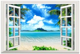 free shipping weave japan UK - 3D photo wallpaper custom size 3d wall murals Beach coconut trees picture home decoration mural wall 3D Mural wallpaper Free shipping