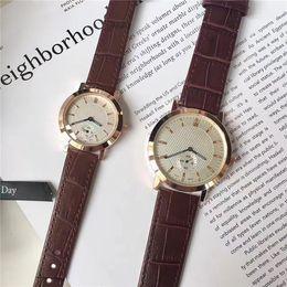Dial Box NZ - Hot sale Men Women Watches Big Dial 40mm Genuine Leather Lady Wristwatches Female Clock Gentleman Quartz Gifts Accessories Popular Free box