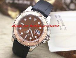 Men Luxury Rubber Watches Canada - Fashion Luxury Men Watch 2017 Sapphire 18 k Rose Gold 116621-78801 Rubber Bracelet 40mm Automatic Mechanical Movement Men's Watch Watches