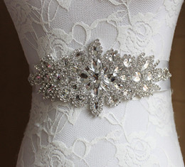 Flower Dress Color Belt Canada - Bridal Sash Wedding Princess Rhinestone Belt Girl Flower Bridesmaid Dress Sash Wedding Accessories Multi Color Ribbon