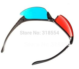 polarized plastic 3d glasses NZ - Free Shipping 300pcs lot Stylish Reuseable Plastic Frame Red Blue Cyan 3D Glasses Half Frame Lens Glass 0001