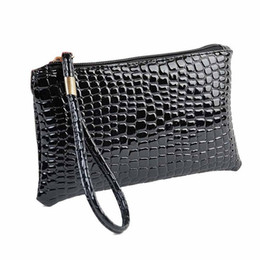 777477663249 Wholesale- Naivety New Mini Fashion Women Alligator Pattern PU Leather  Handbag Portable Clutch Bag CS61108 drop shipping